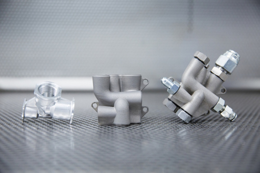 Hydraulic system parts made by Renishaw 3D printing