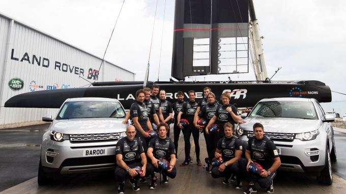 Land Rover BAR launch America's Cup Race boat