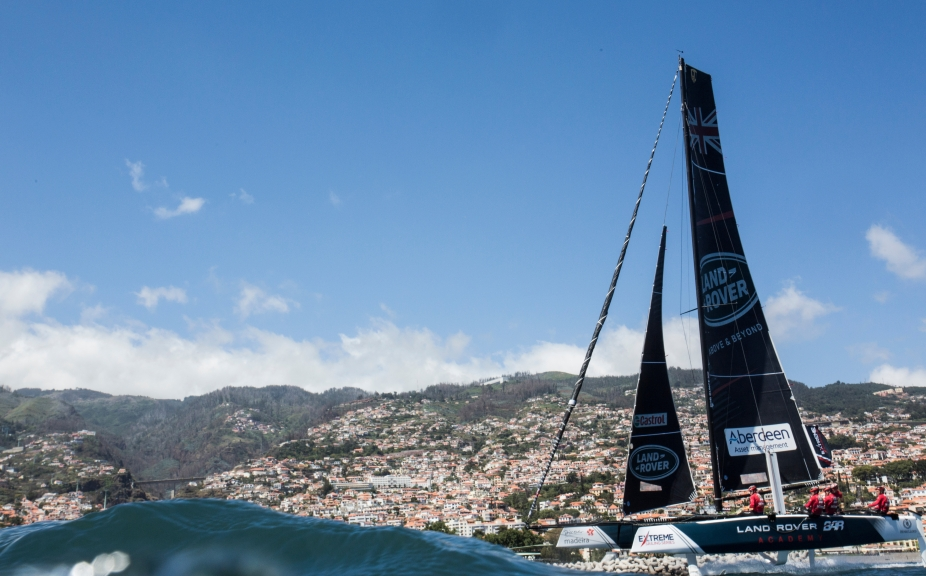 The Extreme Sailing Series. Act 3. Madeira, Portugal. The GC32's racing on day 3 of the event. Credit - Mark Lloyd/Lloyd Images